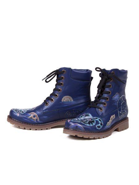 "Sapatas de ""o Pequeno Cheshire"" azul"