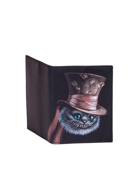 """Обложка на паспорт """"Чешир в цилиндре"""""""