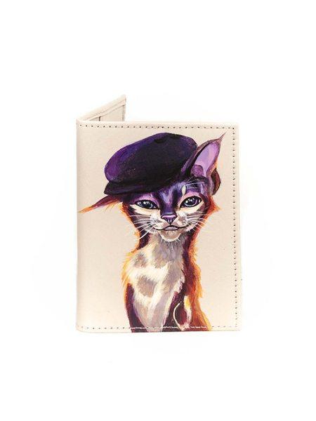 "Обложка на паспорт ""Кошка хулиганка"""