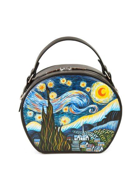"""Круглая сумка """"Звёздная ночь.Ван Гог"""""""