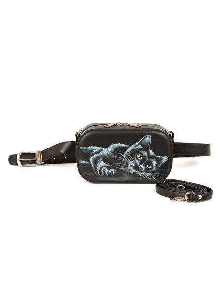 """Поясная сумка """"Чёрный кот"""" 3 в 1"""