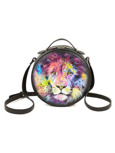 """Круглая сумка """"Радужный лев"""""""