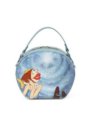 """Круглая сумка """"В синем море"""""""