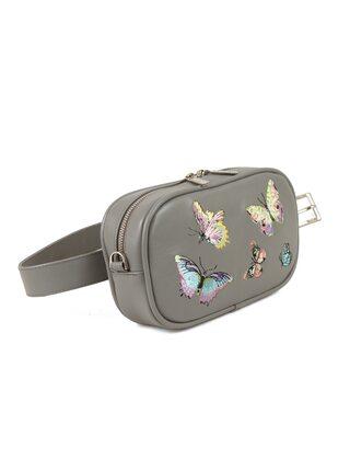 "Поясная сумка ""Бабочки. Вышивка"""