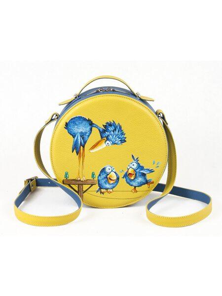 "Круглая сумка ""Птички"""