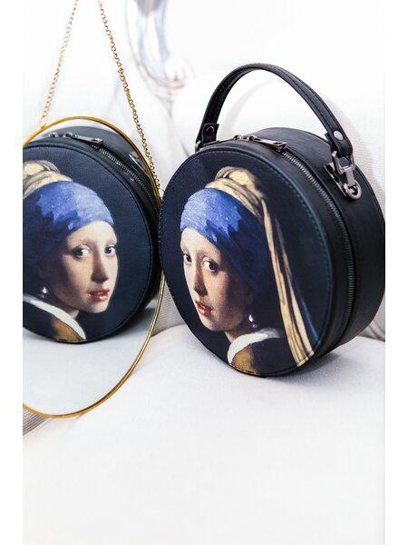 """Круглая сумка """"Девушка с жемчужной сережкой"""""""