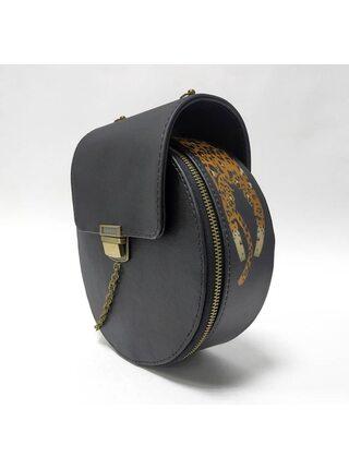 Круглая сумка с клапаном
